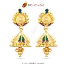 kerala style earrings earrings peacock gold earrings beautiful gold earrings studs