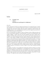 mortgage hardship letter business letter template