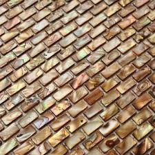 Shell Subway Tile Mosaic Shower Bathroom Stained Bronze Designs - Bronze backsplash tiles