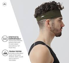 black boy hair punishment amazon com tough headwear mens headband forest green sports