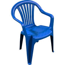 Outdoor Furniture Plastic Chairs by Adams Manufacturing Low Back Chair Patriotic Blue Walmart Com