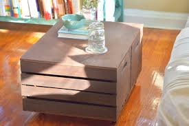 Rolling Ottoman With Storage by Diy Storage Ottoman The Home Depot