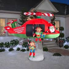 animated outdoor christmas decorations christmas santa elves helicopter animated outdoor garden