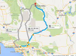 Map Of Death Valley Usa How To Travel Between Las Vegas And Death Valley By Public
