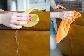 nourrir cuir canapé decoration entretien canape cuir peau banane nourrir cuir