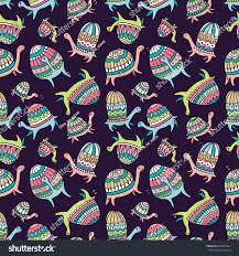seamless pattern ornamental turtles on stock vector