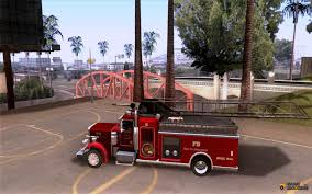 peterbilt 379 fire truck ver 1 0 for gta san andreas