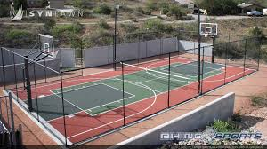 Backyard Tennis Courts 6 Reasons To Install A Backyard Basketball Court Synlawn