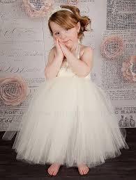 handmade ivory flower dress girls party tutu dress toddler