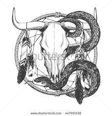 serpent skull pencil and in color serpent skull