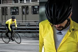 yellow cycling jacket 8bar team testing the new adidas cycling clothing 8bar bikes