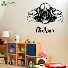 online get cheap football wall stickers for men room aliexpress yoyoyu kids personalized name wall stickers for boys rooms american football man wall decal vinyl cool