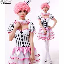 Ladies Clown Halloween Costumes Cheap Circus Fancy Dress Women Aliexpress