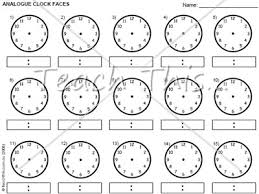 clock templates printable maths teacher resources charts