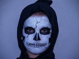 skeleton halloween face halloween face paint skull
