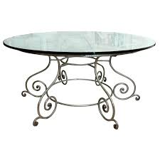 wrought iron dining table glass top wrought iron round table wrought iron side table with glass top