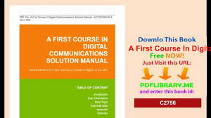 a first course in digital communications solution manual jpg
