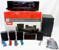 home theater system with wireless rear speakers rca rt2781be 1000w bluetooth home theater system dolby digital 5 1