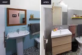 cuisine avant apr鑚 masquer carrelage salle de bain 6 recouvrir mural cuisine 14