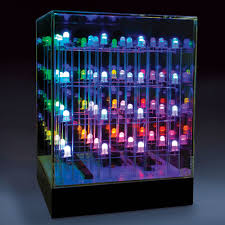 lights for your room hammacher schlemmer the illumicube this clear acrylic cube is