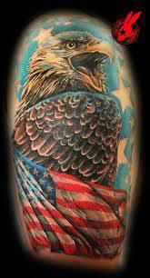patriotic flag eagle tattoo by jackie rabbit patriotic tattoos