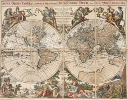 map ot reproduction of an antique map of the world stock photo picture