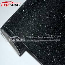 glitter car black frost glitter diamond vinyl film matt glitter car sticker