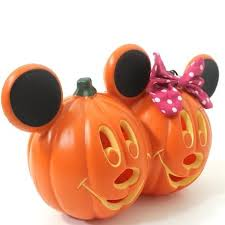 light up pumpkins for halloween how great is this mickey minnie mouse light up pumpkin for