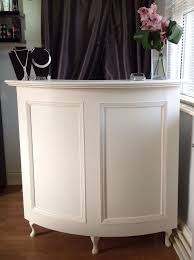 Padded Reception Desk Curved Salon Reception Desk French Style Shabby Chic Painted