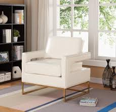 White Leather Accent Chair White Leather Accent Chair Best Master Furnitures Best Master