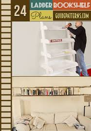 Leaning Shelves Woodworking Plans by 24 Ladder Bookshelf Plans Guide Patterns