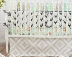 Baby Deer Crib Bedding Some Ideas Pattern Deer Baby Bedding Set Lostcoastshuttle