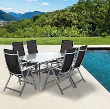 Glass Top Patio Table And Chairs Outdoor Garden Furniture Set For Outdoor Activity Stylishoms