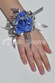 royal blue corsage royal blue brooch wedding wrist corsage w