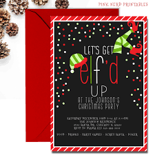 christmas invitations christmas party invitation lets get d up christmas invitations