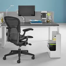Herman Miller Adjustable Height Desk by Herman Miller Aeron Remastered Mesh Office Chair