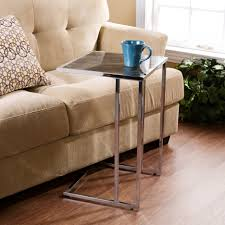 Laminate Timber Flooring Attractive Snack Table With Slick Square Table Top Combined