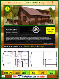 chalet homes 4715 loft e2 wisconsin homes inc modular chalet home plan price