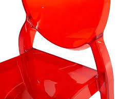 Chaise Rouge Transparente by Chaise Design Chaise En Plastique Transparent Rouge Chaise De