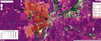 Map Of Dayton Ohio Racial Segregation Of Dayton Ohio Maps Pinterest Dayton Ohio