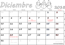 Calendario 2018 Feriados Portugal Calendario Diciembre 2018 Para Imprimir Imprimir El Pdf Gratis