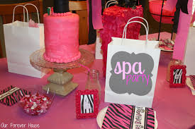 our forever house girly spa party