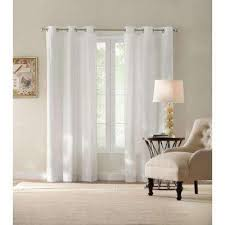 White Cotton Curtains Cotton Curtains U0026 Drapes Window Treatments The Home Depot