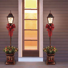 Outdoor Christmas Decorations Lamp Post by Christmas Lamp Post Ebay