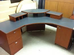 stirring computer table designs for home in corner image inspirations desk wood curved decor modern