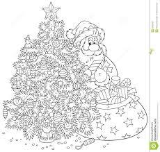 santa claus and christmas tree royalty free stock images image