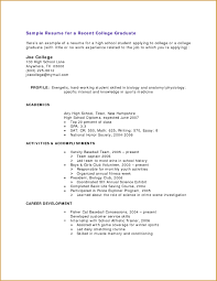 Resume Templates College Application Resume Examples Sample Project Management Professional With Regard