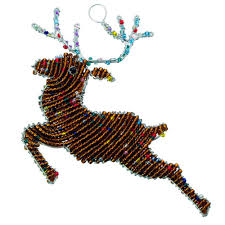 beaded reindeer ornament wireworx beaded animal figurine