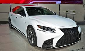 lexus lc f sport 2018 lexus ls500 f sport air ride active 4ws live nyias photos