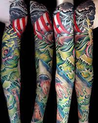 shark tattoo sleeve 30 shark tattoo sleeve designs for men